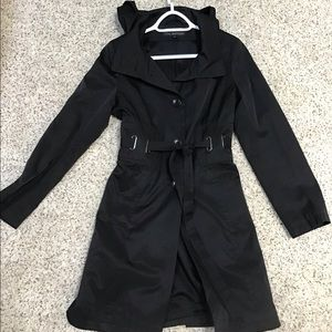 Via spiga black trench coat M medium
